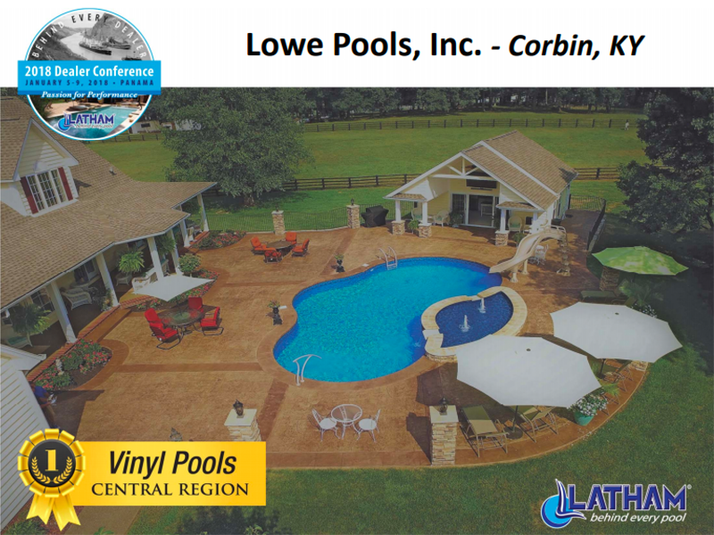 pool award for vinyl pools