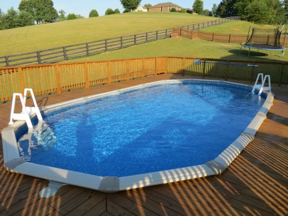 Photo gallery lowe pools kentucky for Top of the line above ground pools