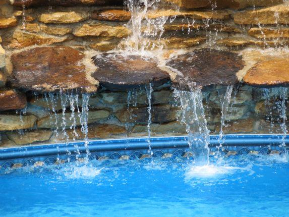Swimming Pool Waterfalls - Lowe Pools - Kentucky
